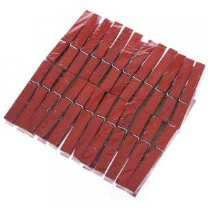 Σετ 24 τεμ κόκκινα ξύλινα μανταλάκια