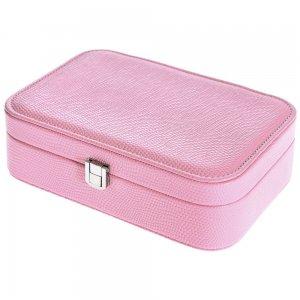 Κουτί μπιζουτιέρα παραλληλόγραμμο σε ροζ χρώμα 22x15x7 &