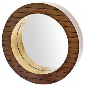 Καθρέφτης ξύλινος από ξύλο καρυδιάς 41εκ