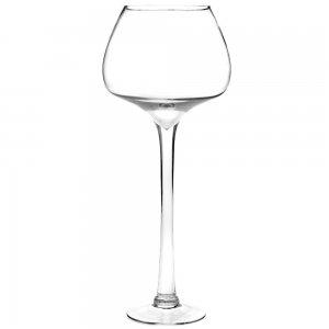 Διάφανο βάζο ποτήρι κονιάκ 15x60 εκ