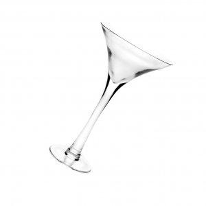 Βάζο ποτήρι ψηλό martini διάφανο 24x40 εκ