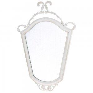 Καθρέφτης antique τοίχου λευκός  51x70 εκ