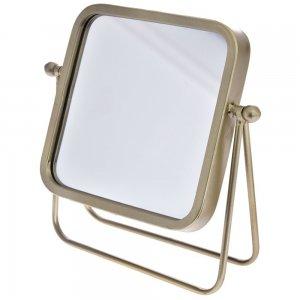 Ρετρό καθρέφτης επιτραπέζιος σε χρυσό χρώμα 26x10x26 εκ