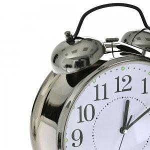 Μαύρο επιτραπέζιο ρολόι 19x22 εκ