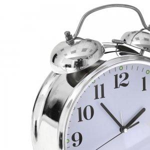 Ασημί ρολόι επιτραπέζιο 19x22 εκ