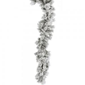 Χιονισμένη γιρλάντα με κουκουνάρια 270 εκ