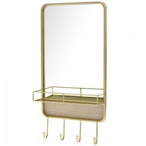 Καθρέπτης και κρεμάστρα σε χρυσό 27x8x52 εκ