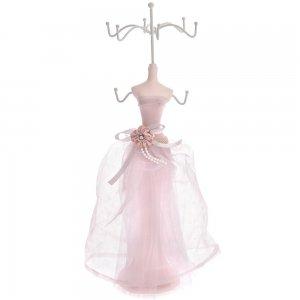 Μπιζουτιέρα κρεμάστρα σώμα με ροζ φόρεμα 36 εκ