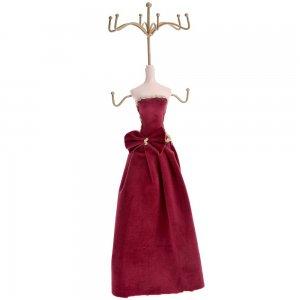 Μπιζουτιέρα σώμα με μπορντό φόρεμα 36 εκ
