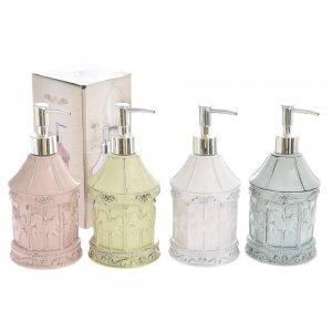 Κεραμικό ρετρό μπουκάλι για υγρό σαπούνι σε τέσσερα παλ χρώματα