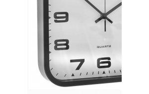 Ρετρό ρολόι τοίχου με μαύρο πλαίσιο τετράγωνο 30x30 εκ