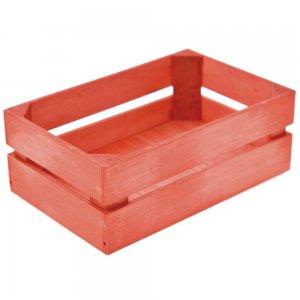 Σετ των 2 καφάσι κόκκινο μικρό από ξύλο 22x14x15 εκ