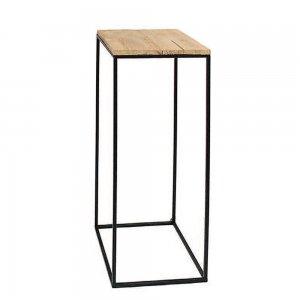 Μεταλλική βάση με ξύλο 22x22x62 εκ