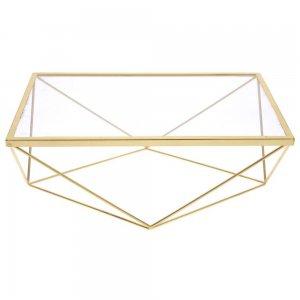 Επιτραπέζια μεταλλική βάση σερβιρίσματος με γυαλί 38x26x14 εκ