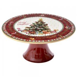 Χριστουγεννιάτικη βάση για κέικ με δενδράκι σετ των δύο 22x22x10 εκ