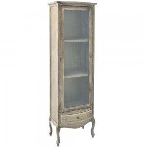 Vintage ξύλινη βιτρίνα 60x38x180 εκ