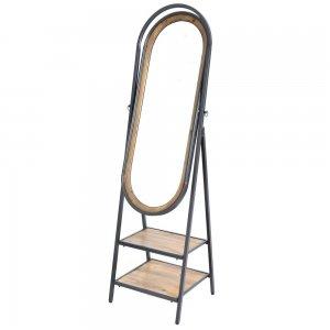 Επιδαπέδιος καθρέφτης με ράφια 53x47x180 εκ