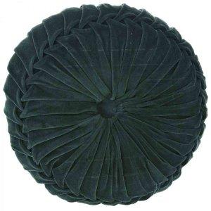 Στρογγυλό μαξιλάρι από βελούδο πράσινο 45 εκ