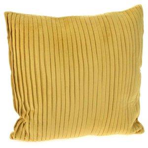 Κοτλέ μαξιλάρι μουσταρδί από βελούδο 45x45 εκ