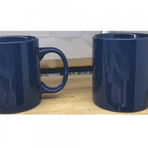 Μπλε μονόχρωμη κούπα σετ έξι τεμαχίων 320ml