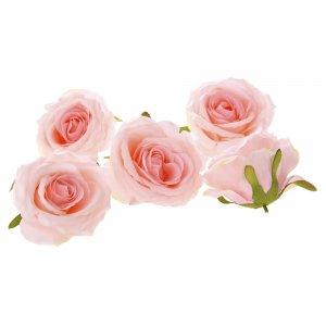 Διακοσμητικά άνθη τριαντάφυλλου σε ροζ χρώμα σετ των εικοσιτεσσάρων τεμαχίων 9 εκ