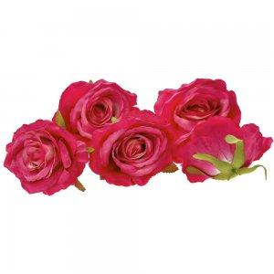 Διακοσμητικά άνθη τριαντάφυλλου σε φούξια χρώμα σετ των εικοσιτεσσάρων τεμαχίων 9 εκ