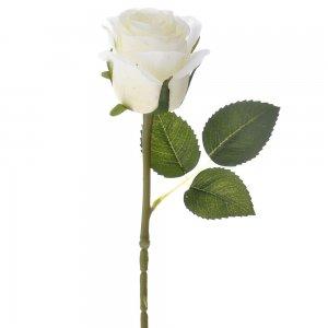 Διακοσμητικό λευκό τριαντάφυλλο σετ των δώδεκα τεμαχίων 50 εκ