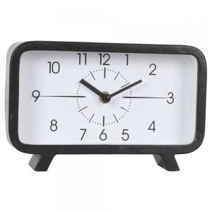 Retro μαύρο μεταλλικό ρολόι επιτραπέζιο 22x6x14 εκ
