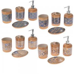 Retro κεραμικό σετ μπάνιου τεσσάρων τεμαχίων σε τέσσερα χρώματα