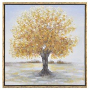 Διακοσμητικός πίνακας με κορνίζα και καφέ δέντρο 85x85 εκ