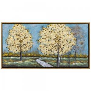 Πίνακας με πολύχρωμα δέντρα 145x75 εκ