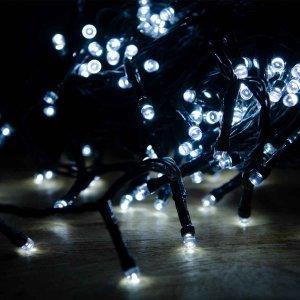 100 LED Εξωτ. χώρου με επέκταση, Καουτσούκ -Λευκό ψυχρό 10m G/W