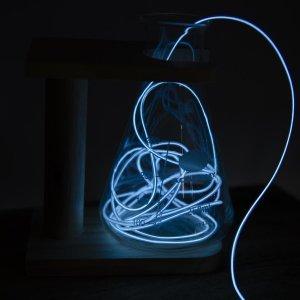 Μίνι φωτοσωλήνας μπαταρίας neon ψυχρό λευκό 2 μέτρα