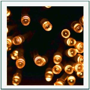 100 LED Εξωτερικού χώρου IP44 με 8 προγράμματα φωτισμού  πράσινο καλώδιο - extra θερμό φως 4m G/FW