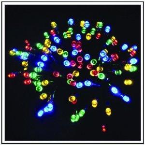 100 LED Εξωτερικού χώρου IP44 με 8 προγράμματα φωτισμού  πράσινο καλώδιο - πολύχρωμο  φως 4m G/M