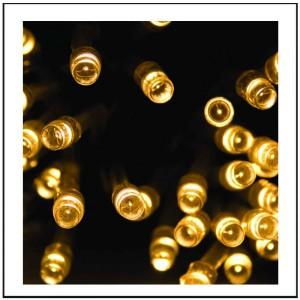 100 LED  με πρόγραμμα και επέκταση, πράσινο καλώδιο - θερμό φως 7m G/WW