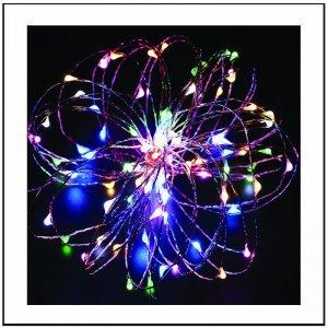 100 led με χάλκινο καλώδιο και μετασχηματιστή IP44 Πολύχρωμο φως 10m