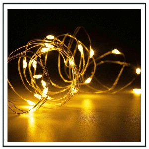 20 Led φωτάκια μπαταρίας led με χάλκινο καλώδιο 2 μέτρα Warm white Λευκό