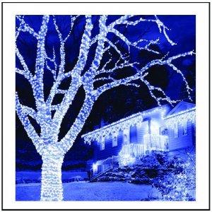 200 LED IP44 Λαμπάκια εξωτερικού χώρου επεκτεινόμενα διάφανο καλώδιο - ψυχρό λευκό φως 12m G/W
