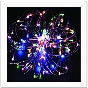 300 led με χάλκινο καλώδιο και μετασχηματιστή 24V Πολύχρωμο φως 30m