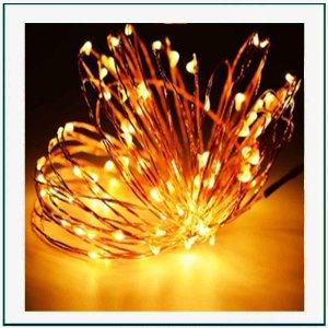 40 Φωτάκια Μπαταρίας led με καλώδιο χαλκού 4 μέτρα Fire White Λευκό w/fw
