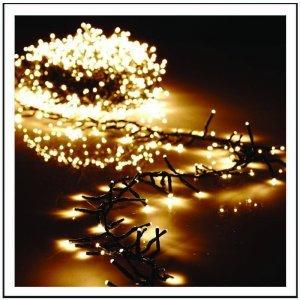 800 LED Cluster Εξωτερικού χώρου IP44 με 8 προγράμματα φωτισμού, πράσινο καλώδιο - θερμό λευκό φως 16m G/WW