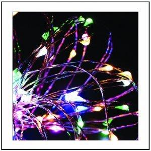 200 led με μετασχηματιστή IP44 και καλώδιο χαλκού Πολύχρωμο φως 20 μ