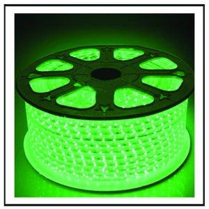 LED  Φωτοσωλήνας πλακέ (11Χ17mm) Πράσινο φως 50m