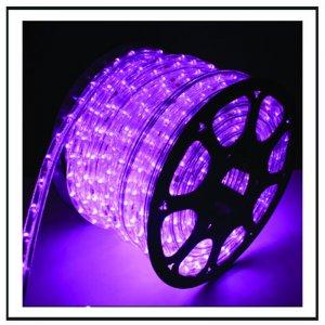 LED  Φωτοσωλήνας πλακέ (11Χ17mm) Μωβ φως 50m