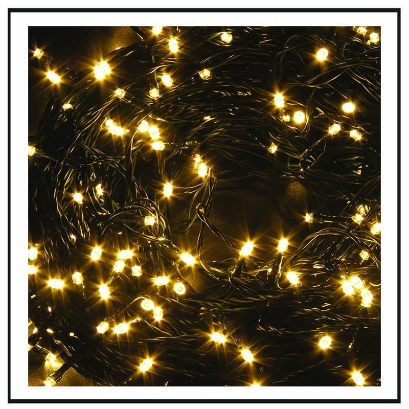 GS 100 Λαμπάκια επεκτεινόμενα - διάφανο καλώδιο - λευκό φως 5m