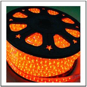 LED  Φωτοσωλήνας πλακέ (11Χ17mm) Πορτοκαλί φώς 50m