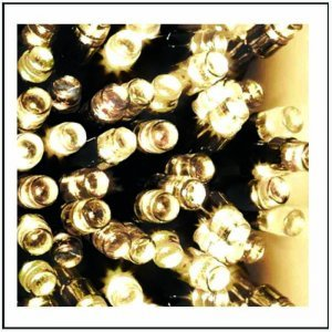 100 LED IP44 Λαμπάκια εξωτερικού χώρου για επέκταση πράσινο καλώδιο και λευκό θερμό φως 5 μ