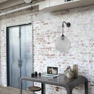 Φωτιστικό απλίκα τοίχου από γυαλί διάφανο 20x40 εκ