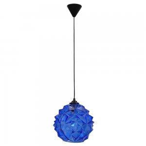 Μπλε ρετρό γυάλινο φωτιστικό οροφής 25x90 εκ